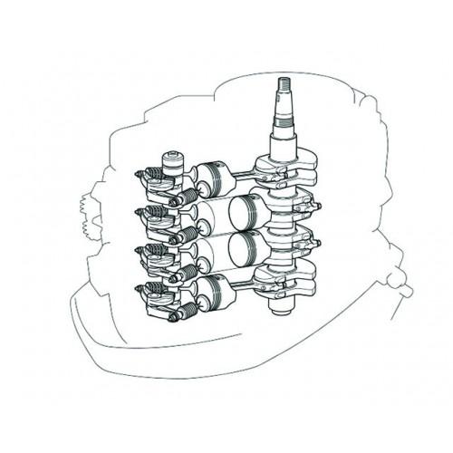 966cc Four-Cylinder Engine